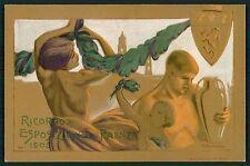 art Montevecchi Faenza Italy Exposition Exposition original 1908 postcard