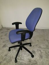 Office Operator Chair - blue fabric