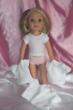 White T-Shirt fits 14inch American Girl Wellie Wishers Doll Clothes Lot