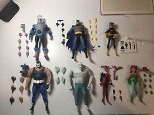 Batman The Animated Series DC Collectibles Lot Bane Freeze Croc Ivy Batgirl
