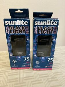Sunlite SL20/BLB 20 Watt Black Light Spiral Energy Saving Light Bulb, ~2 Pack