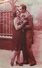 Postcard glamorous elegant couple romance
