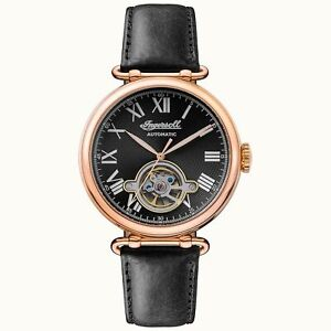 Ingersoll The Protagonist Automatic Black Dial Leather Strap Men's Watch I08903