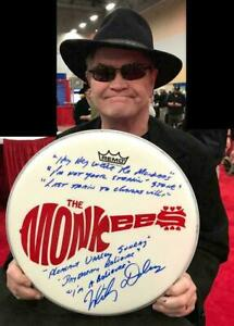 "MICKY DOLENZ DIRECT 2U! 14"" DRUM HEAD SIGNED WITH (6) MONKEES SONG TITLES!"
