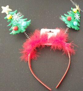 NEW  Christmas tree green deeley bopper aliceband headband fancy dress novelty