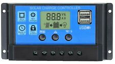 30A Solar Charge Controller, Solar Panel Charge Controller 12V 24V Dual USB NEW