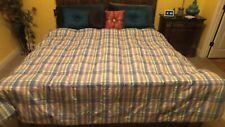 Ralph Lauren Luxury Reversible Down Comfort Blue Plaid King Blanket