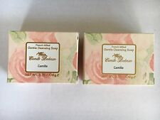 """2 x CAMILLE BECKMAN """" CAMILLE """" FRENCH MILLED GENTLE CLEANSING SOAPS"""
