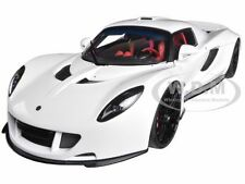 HENNESSEY VENOM GT SPYDER WHITE 1/18 DIECAST MODEL CAR BY AUTOART 75404