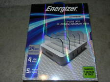 new Energizer ULTIMATE 4 PORT USB CHARGING STATION TRAY 34 watt rapid charge