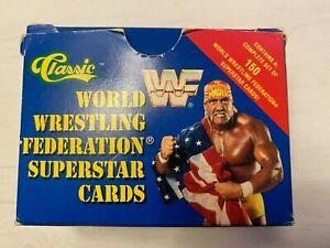 1991 CLASSIC WRESTLING SET - WWF 150 CARDS BOXED MINT/NEAR MINT