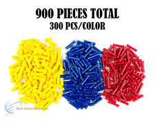 22-10 Gauge Red Blue Yellow Vinyl Butt Connector Terminal 900PCS 12 Volt Install