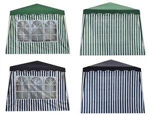 2 Seitenteile für Pavillon mit/ohne Fenster Blau Grün Seitenwand Wasserabweisend
