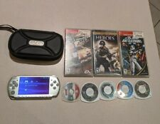 Sony PSP 3001 Mystic Silver with 9 games!