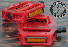 "Red Iped Platform Bicycle Pedals 9/16""  BMX MTB FiXiE Track Road Bike Cruiser"