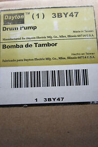 NEW DAYTON 3BY47 DRUM PUMP