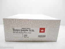 BOX OF 500 WESTERN 2589 #10 ENVELOPE 24LB WHITE TINTED FLIP-STIK