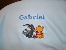 Personalized Baby Infant Toddler Blanket Cute Winnie The Pooh & Eeyore
