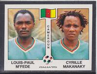 Panini - Italia 90 World Cup - # 178 M'Fede / Makanaky - Cameroun