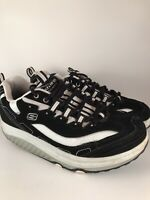 Skechers Shape Ups Shoes 11809 Black White Walking Toning Women's Size 8.5