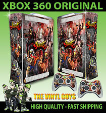 XBOX 360 STREET FIGHTER MASH UP RYU KEN AKUMA STICKER SKIN COVER & 2 PAD SKINS