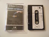 THIN LIZZY THUNDER AND LIGHTNING CASSETTE TAPE 1983 PAPER LABEL VERTIGO VERLC 3