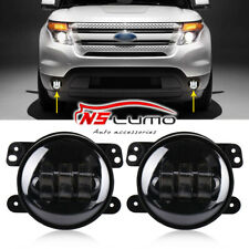 Pair Fog Light For Ford Focus Fusion Explorer Mustang Bumper Lamp 30w Halo 4inch
