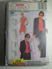 New BURDA-COUTURE Pattern 3495 jacket Pants Vest Size 10-20 or 36-46