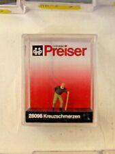 "Preiser 28096 HO/ 1:87 Scale ""Backache"" Elderly Gentleman with Stick"