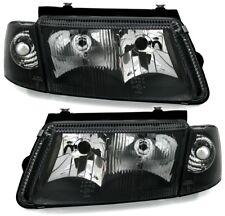Scheinwerfer Set + Blinker für VW PASSAT 3B in Schwarz mit Nebelscheinwerfer NSW