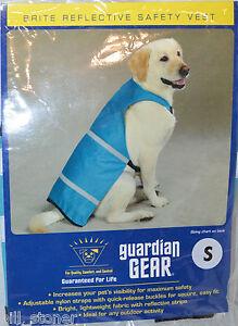 "Guardian Gear Blue Bluebird Pet Safety Vest Reflective Stripes Small Dog 12"""