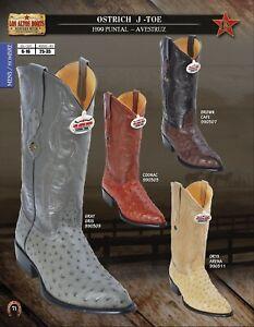 Los Altos J-Toe Men's Western Genuine Ostrich Cowboy Boots