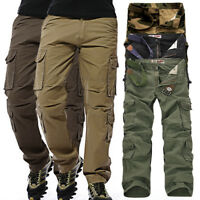 Men's Baggy Camouflage Military Army Cargo Combat Pants Trousers Casual Outdoor