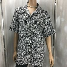 4eafd719e85 Maggie Barnes Womens Blouse Size 3x 26 28w Color Black Short Sleeve (see  Photos