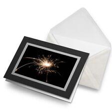 Greetings Card (Black) - Sparkler Sparks Firework Fun Birthday Gift #2164