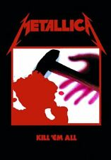 Authentic METALLICA Kill Em All Quality Silk-Like Fabric Poster Flag NEW