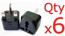 6pk USA US EU Europe To UK British Travel Plug Adapter Charger Outlet Converter