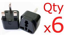 6pk USA US EU Europe To UK British Travel Plug Adapter Charger Outlet Converter