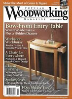 Popular Woodworking Magazine Bow Front Entry Table Workshop Workhorse Shaker