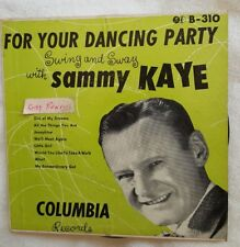 Swing And Sway With Sammy Kaye (Columbia Dance Party Series) Double 45 EP