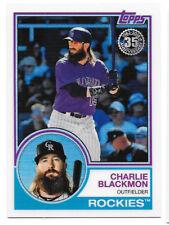 Charlie Blackmon 2018 TOPPS SERIES 2 Silver Pack 1983 Chrome Refractor #55