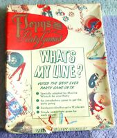 1950'S WHAT'S MY LINE  PEPYS PARTY GAME