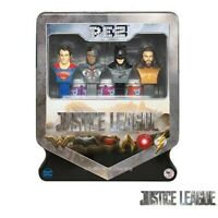 DC Universe - Justice League PEZ Gift Tin- With 4 Pez Dispensers and Candy - New