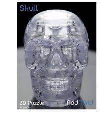 SKULL Interlocking 3D CRYSTAL JIGSAW PUZZLE 49 Pieces