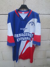 Maillot rugby EMS BRON XV porté n°4 Aménagement Lyonnais vintage shirt 90's XXL