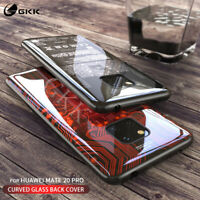 Tempered Glass Phone Case For Huawei Mate 20 30 Pro Back Cover  Silicone Edge