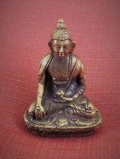 "Shakyamuni Buddha Statue for Dharma in Nepal, Tibet 2 1/8"" High Brass"