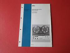 Braun TG 1020 org. Service Anleitung Manual Elektroakustik Tonbandgerät