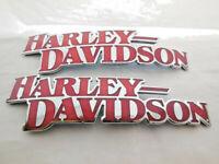 Harley Davidson Tankembleme Tankschilder Tank Embleme Chrom 14100709 & 14100710