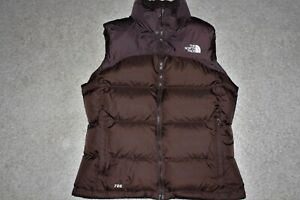 Womens Sz Medium The North Face Nuptse 700 Fill Goose Down Puffer Vest Jacket